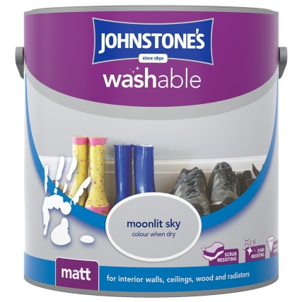 Johnstone S Washable Matt Paint Moonlit Sky 2 5l B Amp M