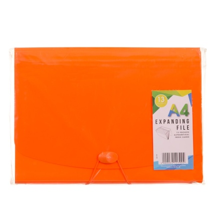 321179-13-Pocket-Expanding-FIle-A4-Orange