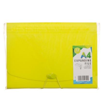 321179-13-Pocket-Expanding-FIle-A4-Yellow