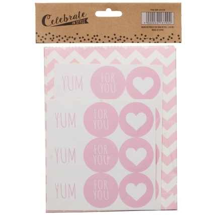 321379-20-Paper-Treat-Bags-with-21-Stickers-yum-for-you-pink-chevrons-2