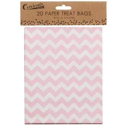 321379-20-Paper-Treat-Bags-with-21-Stickers-yum-for-you-pink-chevrons