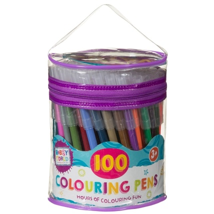 Hobby World Value Pack Felt Tip Pens 100pk
