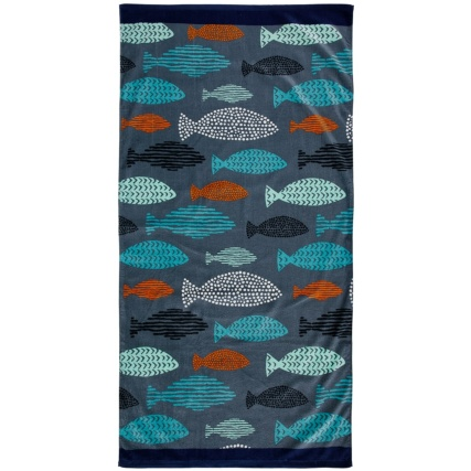321668-Printed-Traditional-Beach-Towel-75x150cm-fish