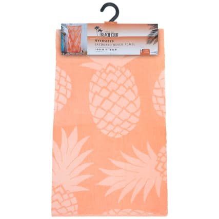 321939-oversized-jaquard-beach-towel-coral-pineapple