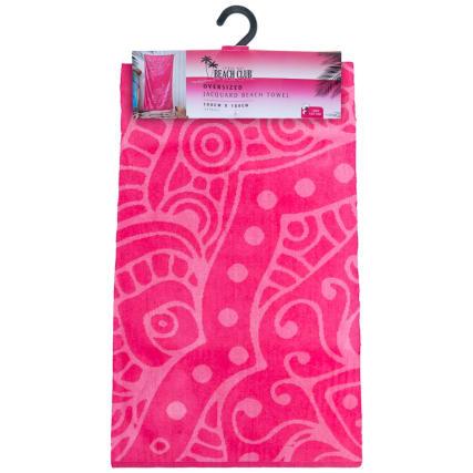 321939-oversized-jaquard-beach-towel-hot-pink-mandala