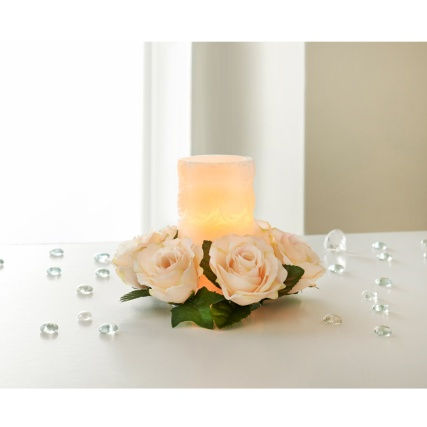 Rose Bunch Candle Ring