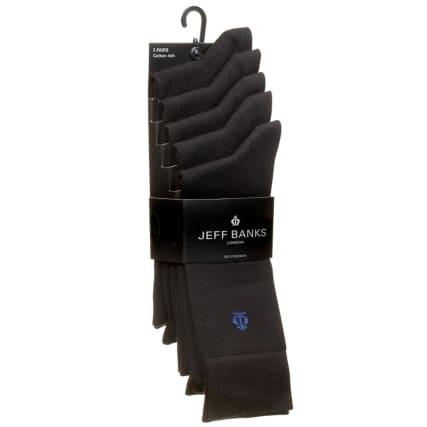 322771-Jeff-Banks-Black-Socks-5PK1