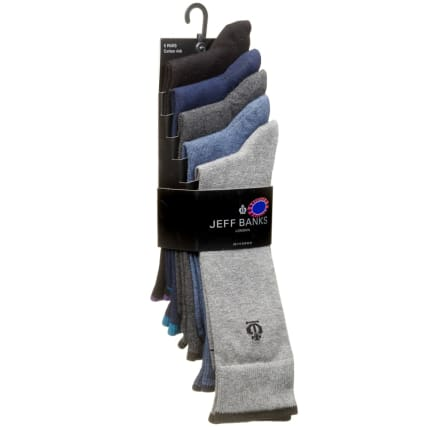 322772-Jeff-Banks-Plain-Colour-Socks-5PK1