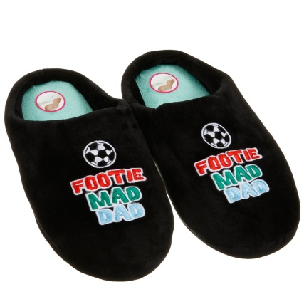 Father's Day Memory Foam Slippers - Footie Mad Dad