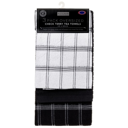 323017-3-pack-Oversized-Check-Terry-Tea-Towels-black-2