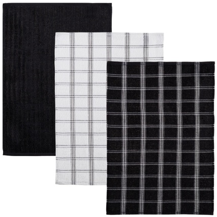 323017-3-pack-Oversized-Check-Terry-Tea-Towels-black