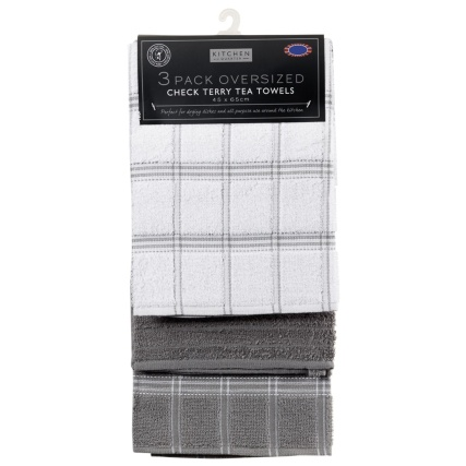 323017-3-pack-Oversized-Check-Terry-Tea-Towels-grey-2