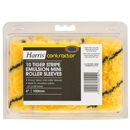323025-Harris-Contractor-10-Tiger-Stripe-Emulsion-Mini-Roller-Sleeves