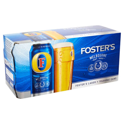 Foster's Lager 10 x 440ml Cans