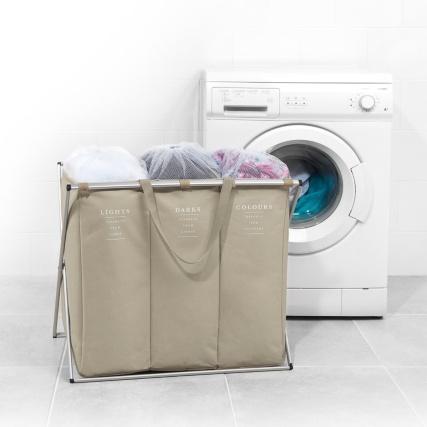Beldray Triple Laundry Hamper Natural Home Laundry B Amp M