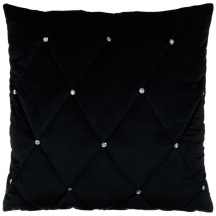323742-Frances-Oversized-Diamante-Quilted-Cushion-black