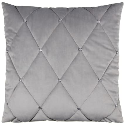 323742-Frances-Oversized-Diamante-Quilted-Cushion-silver