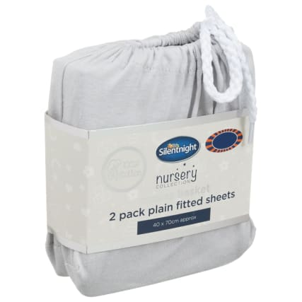 324401-Silent-NIght-Moses-Basket-100-Percent-Cotton--Fitted-Sheets-2PK--Grey
