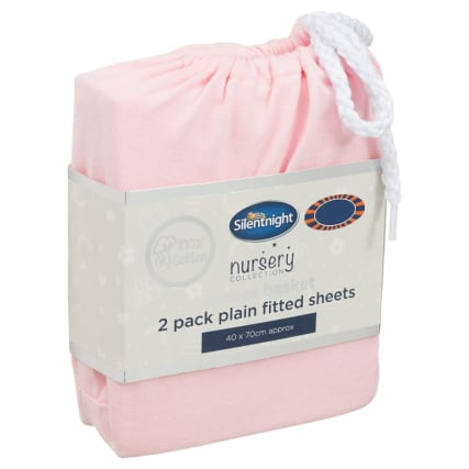 324401-Silent-NIght-Moses-Basket-100-Percent-Cotton--Fitted-Sheets-2PK--Pink