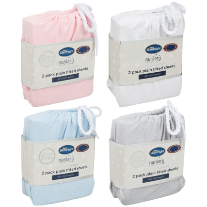 324401-Silent-NIght-Moses-Basket-100-Percent-Cotton--Fitted-Sheets-2PK-Main