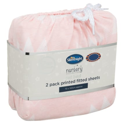 324404-Silent-NIght-Cot-Bed-100-Percent-Cotton-Printed-Fitted-Sheets-2PK-Bunting