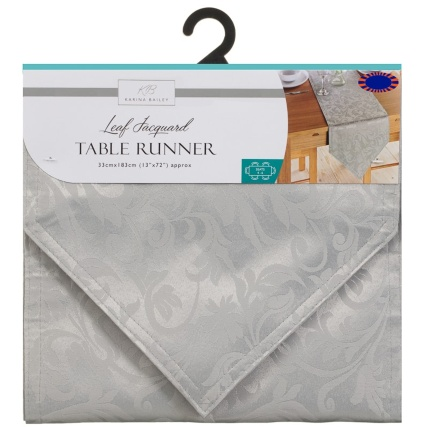 324742-karina-bailey-jacquard-leaf-table-runner-33x183cm-silver-leaf