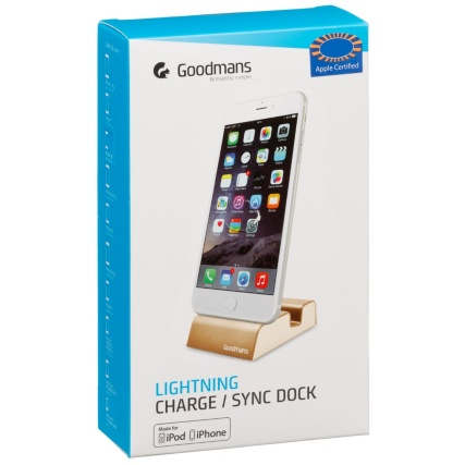 324951-Goodmans-Lightning-Charge-and-Sync-Dock-Gold