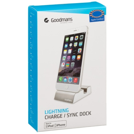 324951-Goodmans-Lightning-Charge-and-Sync-Dock-Silver