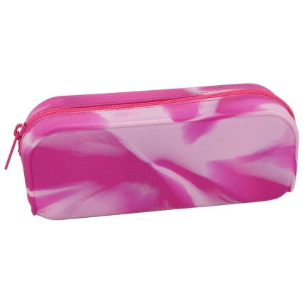 324998--silicone-marbled-silicone-pink-pencil-case
