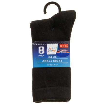 325063-Kids-Ankle-Socks-8PK-Black