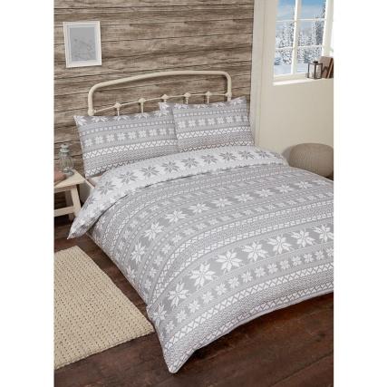 nordic brushed cotton duvet set double bedding b m. Black Bedroom Furniture Sets. Home Design Ideas