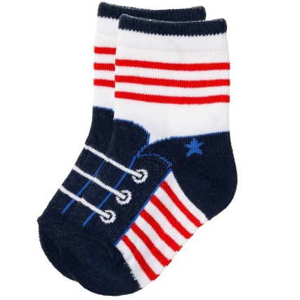 327131-little-star-8-pairs-baby-socks-cotton-rich-red-and-blue-4