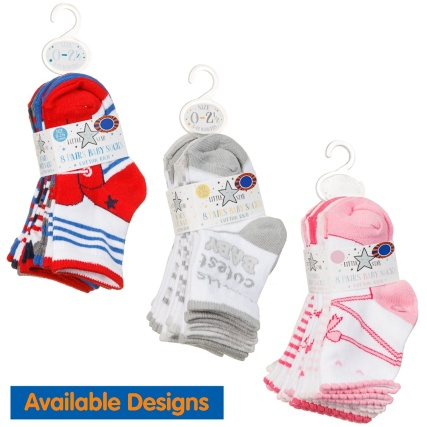 327131-little-star-8-pairs-baby-socks-cotton-rich-red-and-blue
