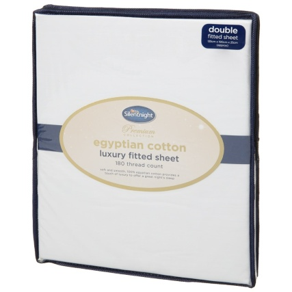 327474-Silentnight-Egyptian-Cotton-Luxury-Double-Fitted-Sheet-White-2