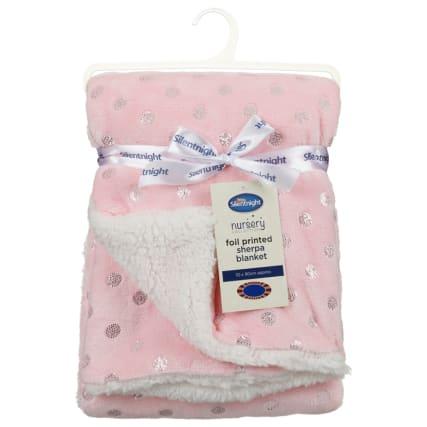 327948-Silent-Night-Foil-Printed-Sherpa-Blanket-Pink-2