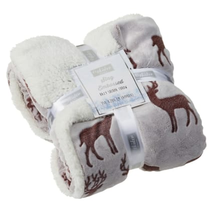 328000-Winter-Collection-Stag-Embossed-Hazy-Sherpa-Throw-2
