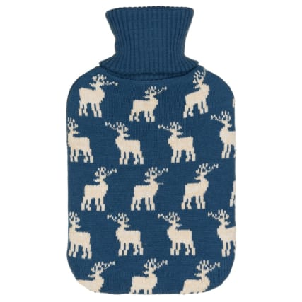 328372-knitted-hot-water-bottle-2l-blue-deer