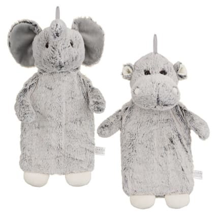 Snuggle Up Fluffy Hot Water Bottle Elephant Gifts B Amp M