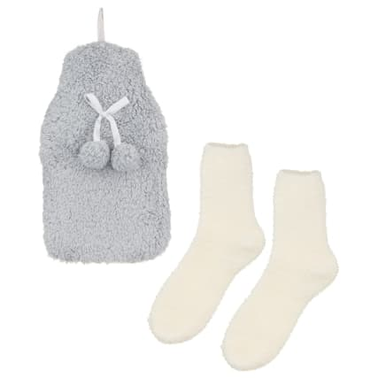 328378-snuggle-up-hot-water-bottle-with-fluffy-socks-grey-and-cream-2
