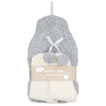 328378-snuggle-up-hot-water-bottle-with-fluffy-socks-grey-and-cream