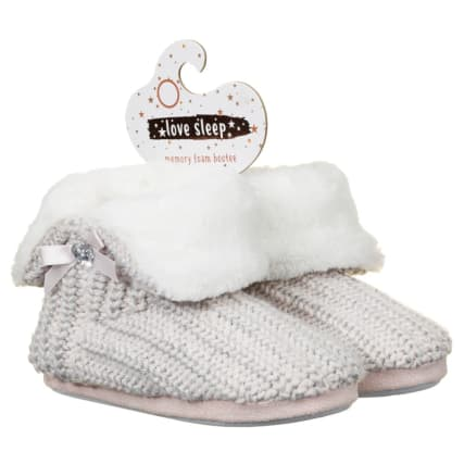 Ladies Knitted Memory Foam Bootees