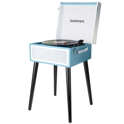 Goodmans Retro Turntable - Blue