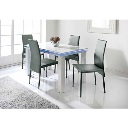 Alaska dining set 5pc dining room furniture b m for B m dining room furniture