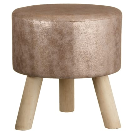 Home Decor Metallic Stool Gold Gifts For Home B Amp M