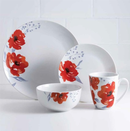 Plates And Bowls Set White