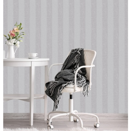 330547-CWV-Tweed-Stripe-Grey-Wallpaper