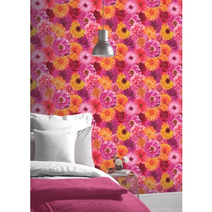 330637-Arthouse-Foil-In-Bloom-Fuchsia-Wallpaper-2