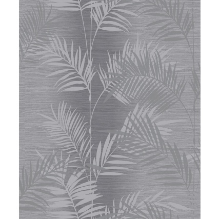 330648-Arthouse-Diamond-Palm-Charcoal-Wallpaper