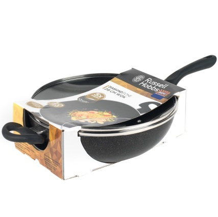 Russell Hobbs Diamond Stone Wok with Lid 28cm