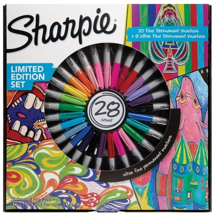 Sharpie Limited Edition Pen Set 28pk Stationery B Amp M
